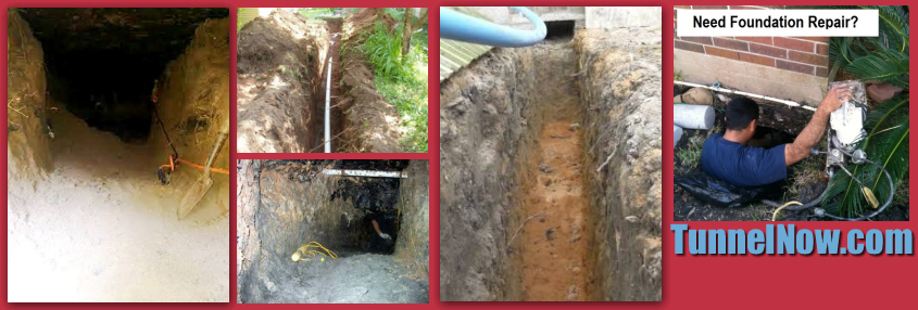 Affordable & Reliable Solutions for under slab plumbing leak and foundation repair in Houston. Call 713-321-2657 for a free estimate. Our tunneling services includes hand digging tunnels and access...