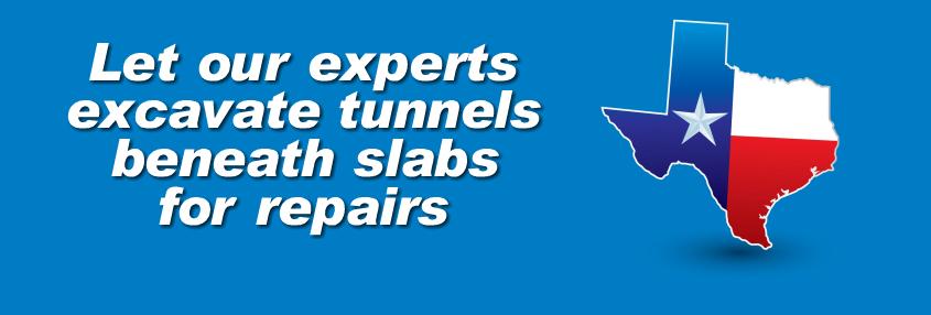 under slab tunnel repair